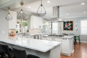 Countertops and White Shaker Style Cabinets